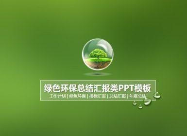 环境保护PPT模板