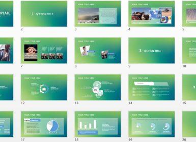 绿色背景商务PPT模板