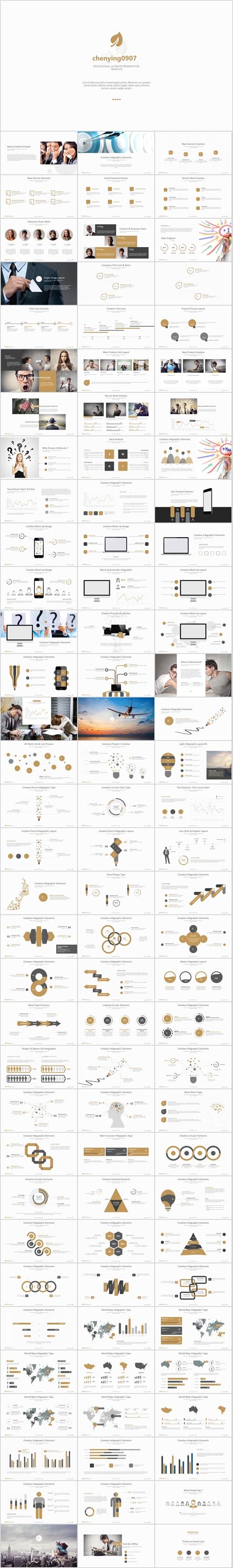 欧美风格团队介绍,商业策划PPT模板